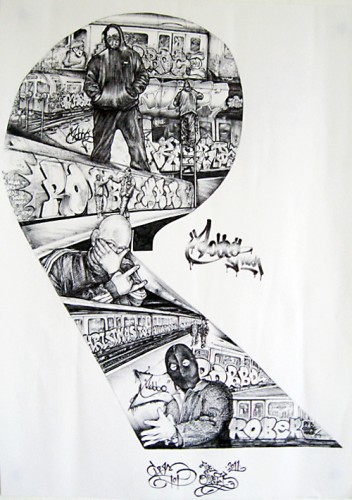 Chum101_RobboWRH_ink on paper_41x29_5_signed