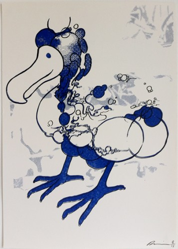 Russell Maurice_Blue Dodo_screenprint_42x29_5cm_8_15_signed